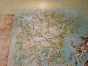 One of the paintings on the wall